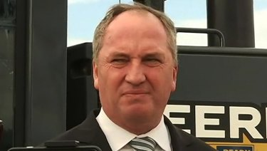 Nationals backbencher Barnaby Joyce in Tamworth on Monday.