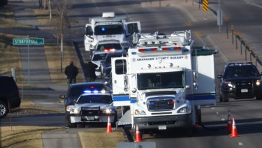 The scene of shooting in Highlands Ranch, Colorado.
