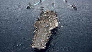The Nimitz-class aircraft carrier USS Carl Vinson.