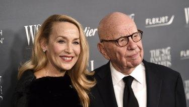 Jerry Hall and Rupert Murdoch.