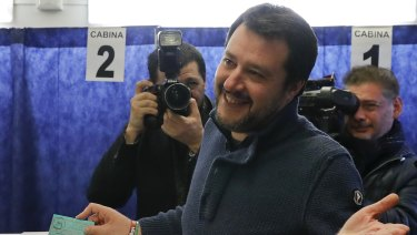 Leader of the Northern League party, Matteo Salvini.