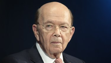 Wilbur Ross, US commerce secretary, pauses during a panel session on day two of the World Economic Forum (WEF) in Davos,