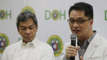 Department of Health Undersecretary Dr Rolando Enrique Domingo