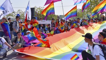 Gay activists in China.