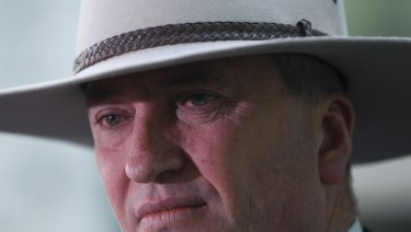 Deputy Prime Minister Barnaby Joyce said he wasn't going anywhere.