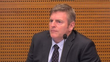 Brendan Stanford at the banking royal commission hearing.