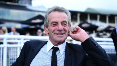 Listen up: Trainer Gerald Ryan is all smiles after Trapeze Artist's victory.