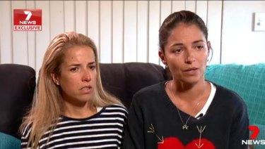 Rita Maciel and Carolina Camara, friends ofCecilia Haddad.