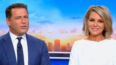 Today's Karl Stefanovic with new co-host, Georgie Gardner.