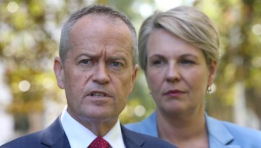Opposition leader Bill Shorten and his deputy Tanya Plibersek. Labor is offering to put $17 billion into schools.