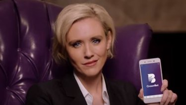 Actor and model Nicky Whelan in CrownBet's latest marketing campaign.