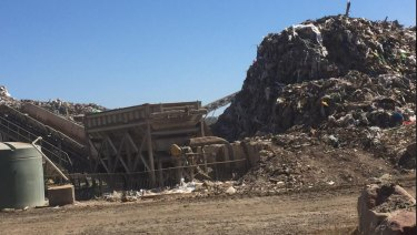 One of three landfills operating in Ipswich, where odour complaints are becoming regular.