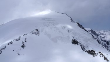 Pigne d'Arolla mountain near Arolla, Switzerland, where four Alpine climbers have died.