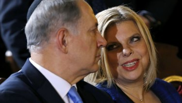 Israel PM Benjamin Netanyahu with his wife Sara in December 2013.