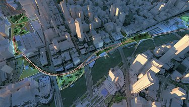 Plans for the Melbourne High Line.