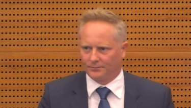 High-profile financial planner Sam Henderson in the witness box at the royal commission.