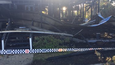 A Browns Plains real estate business has been destroyed by fire.
