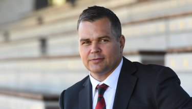 In demand: Anthony Seibold has made an impressive start to his NRL coaching career at South Sydney.