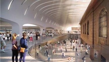 An artist's impression of Sydney's Central Station redevelopment.