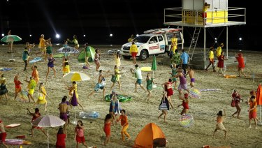 The opening ceremony celebrated Australia's beach culture.