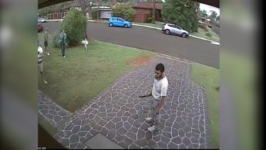 CCTV released by the court of the alleged attack.