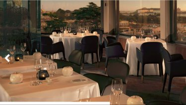 Cardinal George Pell and Scott Pruitt dined at La Terrazza, atop the five-star Hotel Eden.