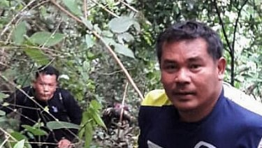 Members of the birds' nest team have been tasked with finding holes in the mountain range above Tham Luang cave so that the boys can be evacuated.