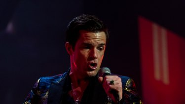 The Killers' frontman Brandon Flowers.