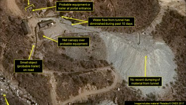 Punggye-ri nuclear test site on April 12.