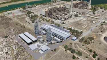 An artist's impression of the AGL Barker Inlet power station.