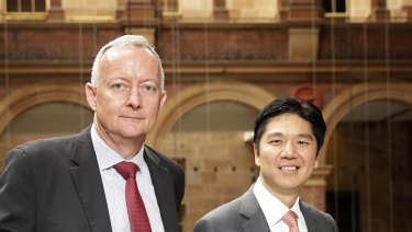 Aveo Group chief executive Geoff Grady and chairman Seng Huang Lee.