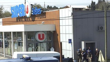Shoppers tried to hide from the gunman as he took hostages.