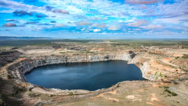 The pumped hydro storage facility  repurposes the abandoned Kidston gold mine.