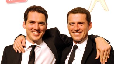 Peter and Karl Stefanovic in happier times at the 2011 TV Week Logie Awards.