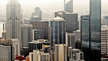 Melbourne CBD is fast becoming dominated by high rises.