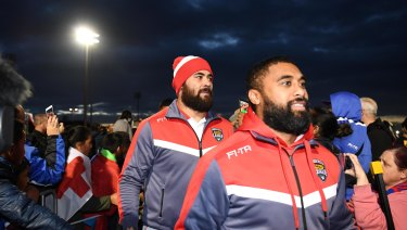 Proud: Fifita will line up for Tonga but still be ready for the Blues in game 3.