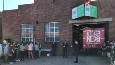 Keen bidders battled for a warehouse property in Brunswick.