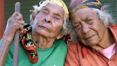 Molly Kelly and Daisy Kadibil (right) of Jigalong.