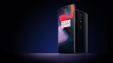 The OnePlus 6 features an all-glass design.