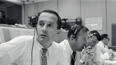 Charlie Duke in Mission Control.