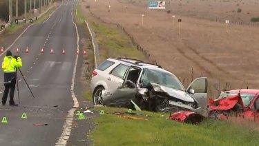 The scene of the crash in Truganina.