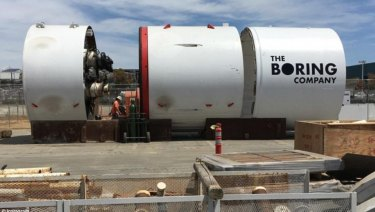 The Boring Company's tunnelling machine.