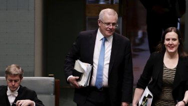 Financial Services Minister Kelly O'Dwyer and Treasurer Scott Morrisson
