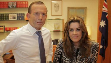 Peta Credlin with Prime Minister Tony Abbott.
