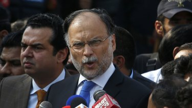 Pakistani Interior Minister Ahsan Iqbal survived the assassination attempt.