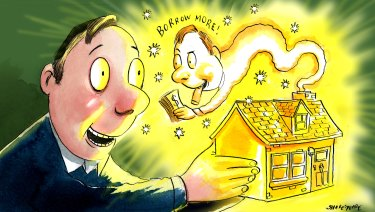 Many business loans are backed by property. Illustration: John Shakespeare