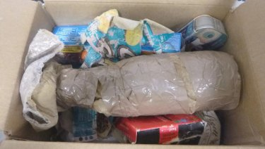 Around 40 packages of cocaine and MDMA were concealed in the would-be care packages sent from France.