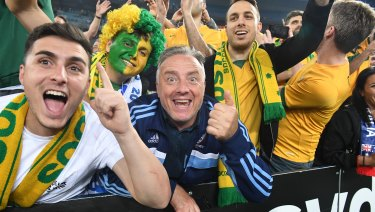 Passionate: Socceroos' fans are gearing up for the World Cup.