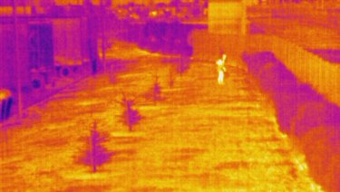 A thermal image from one of Spectur's cameras.