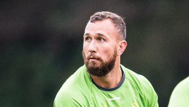 Going nowhere: Quade Cooper says he'll stay in Queensland.